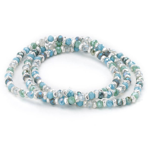 Faceted Bead Stretch Bracelet