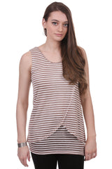 Striped Double Layer Cross Over Tunic