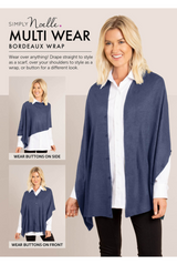 Neutral Bordeaux Button Wrap