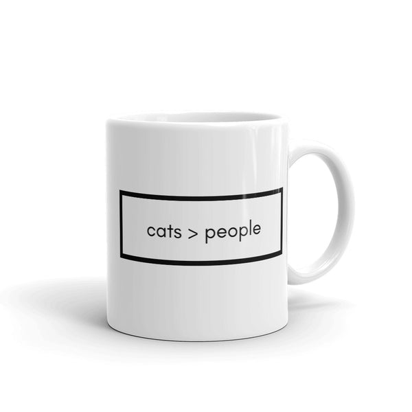 Cats > People Coffee Mug