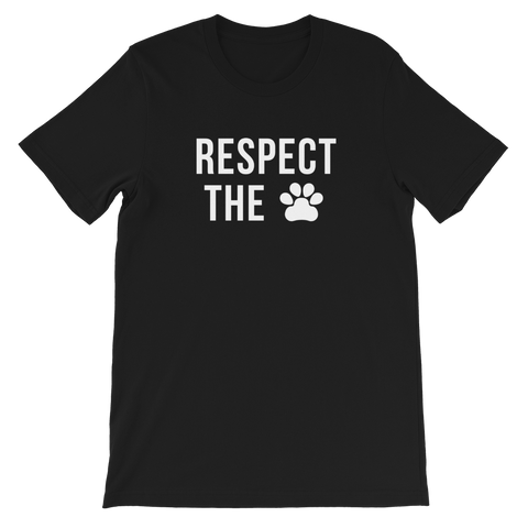 Limited Time: Respect The Paw Black Tee