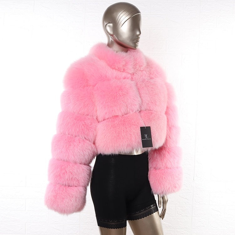 BUBBLE GUM CROPPED FUR