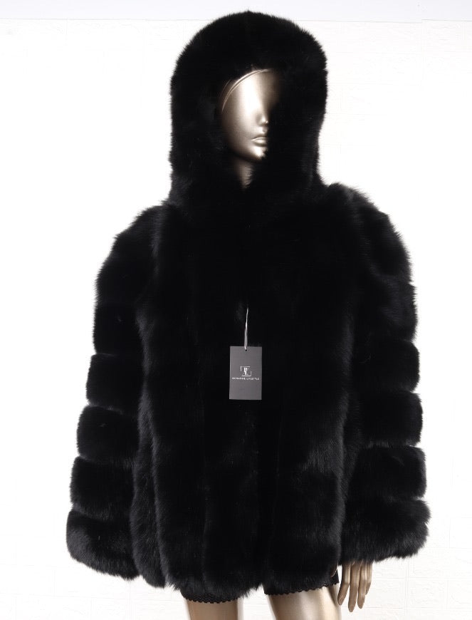 DARK UNICORM FUR COAT