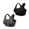 (2 Pack) Zip Front Sports Bra