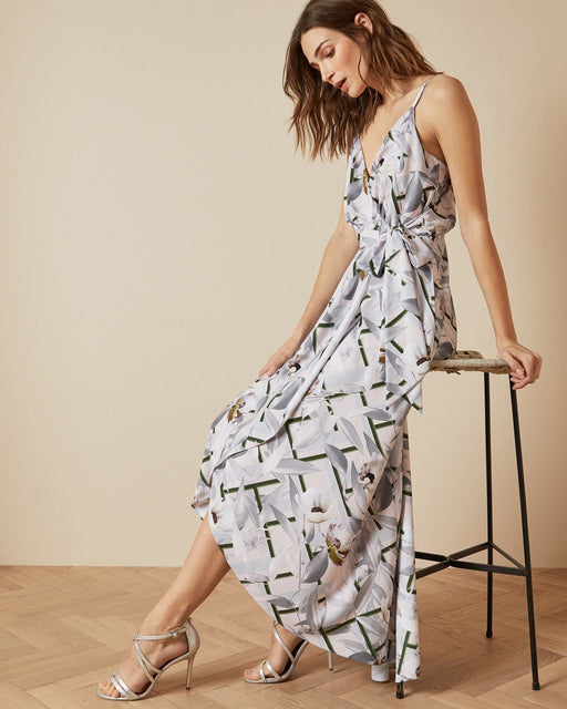 Everglade sleeveless wrap dress