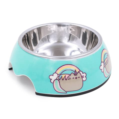 Pushee Unicorn Stainless Steel Blue Bowl for Cats, 0.75 Cup