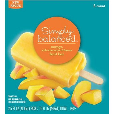 Mango Fruit Frozen Bar - 6pk - Simply Balanced™