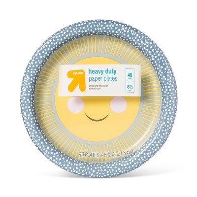 "Kids Printed Paper Plate 8.5"" - 40ct - Up&Up™"