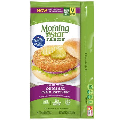 Morningstar Farms Original Frozen Chik Veggie Patties - 10oz