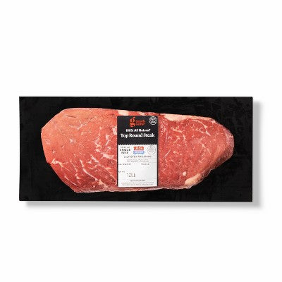 USDA Choice Angus Beef Top Round Steak - 0.67-1.86lbs - priced per lb - Good & Gather™
