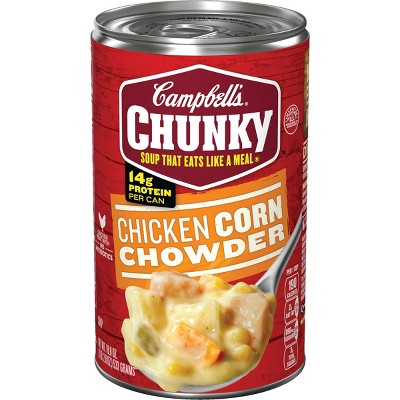 Campbell's Chunky Chicken Corn Chowder Soup 18.8oz