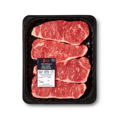USDA Choice Angus Beef New York Strip Steak Value Pack - 1.6-3.67lbs - priced per lb - Good & Gather™