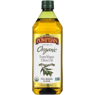 Pompeian Full Bodied Flavor Extra Virgin Organic Olive Oil - 32oz