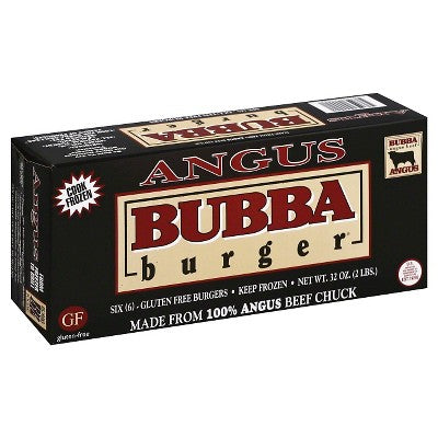 Bubba Burger Frozen Angus Beef Chuck Patties - 6pk