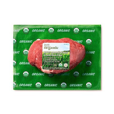 Organic Grass Fed Tenderloin Filet - 0.25-0.75lbs - priced per lb - Good & Gather™