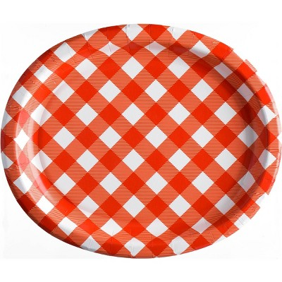 "10""x12"" 10ct Oval Platter Gingham - Sun Squad™"