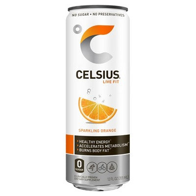 Celsius Sparkling Orange Energy Drink - 12 fl oz Can