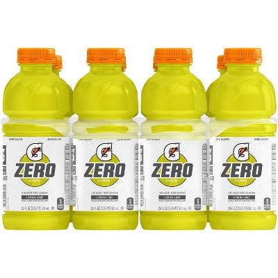 Gatorade G Zero Lemon Lime Sports Drink - 8pk/20 fl oz Bottles