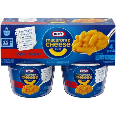 Kraft Triple Cheese Macaroni & Cheese Dinner 4pk