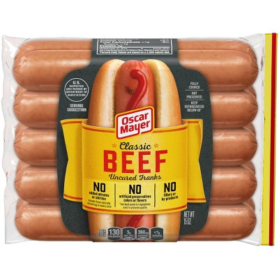 Oscar Mayer Classic Uncured Beef Franks - 5ct/15oz