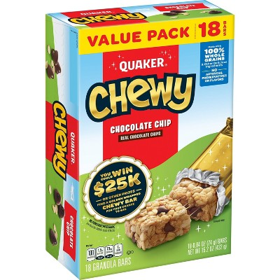 Quaker Chewy Chocolate Chip Granola Bars - 18ct/15.2OZ