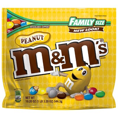 M&M's Peanut Family Size Chocolate Candies - 19.2oz