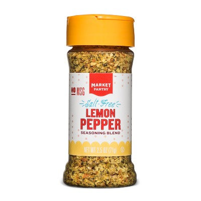 Salt Free Lemon Pepper Seasoning Blend - 2.5oz - Market Pantry™