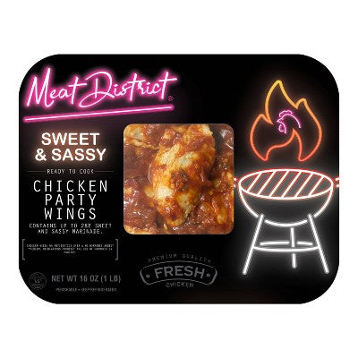 Meat District Sweet & Sassy Chicken Party Wings - 16oz