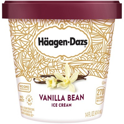Haagen Dazs Vanilla Bean Ice Cream - 14oz