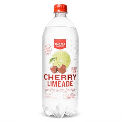 Cherry Limeade Sparkling Water - 1 L Bottle - Market Pantry™