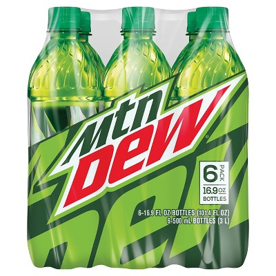 Mountain Dew Soda - 6pk/16.9 fl oz Bottles