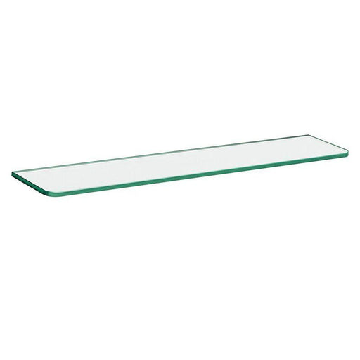 23-5/8 in. x 6 in. x 5/16 in. Standard Glass Line Shelf in Clear