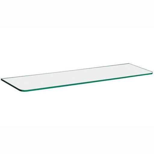 32 in. x 5/16 in. x 8 in. Standard Line Shelf in Clear Glass