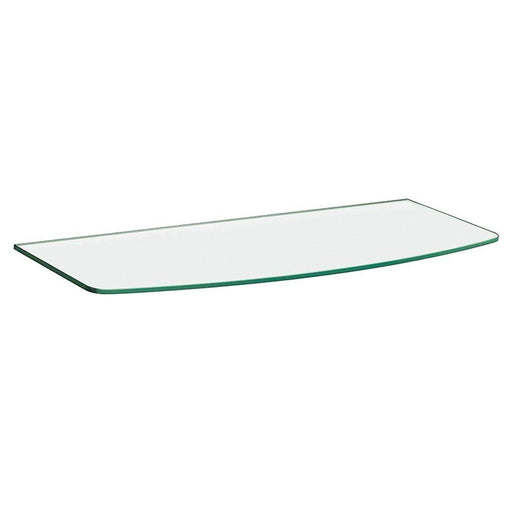 31-1/2 in. x 10 in. x 12 in. x 5/16 in. Convex Glass Line Shelf in Clear
