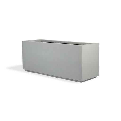 Milan Tall 46 in. x 19 in. Concrete Gray Trough Composite Planter