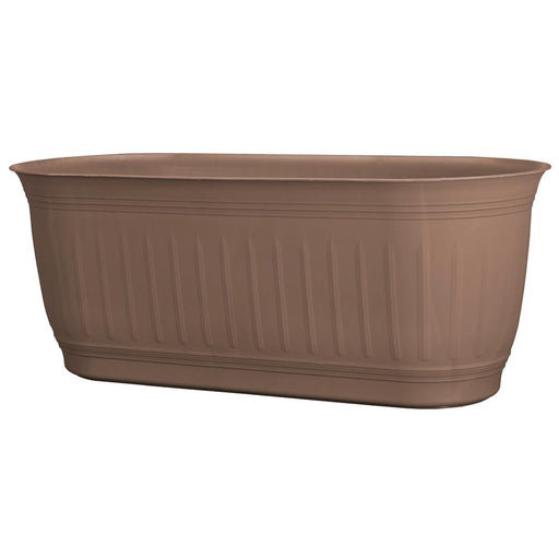 Colonnade 24 in. x 7 in. Dark Earth Wood Resin Window Box Planter
