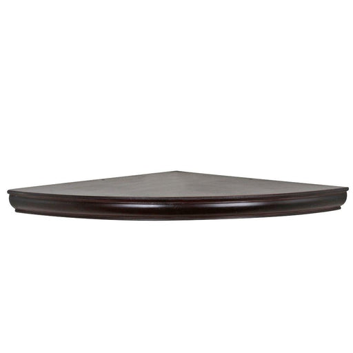 18 in. x 1-3/4 in. H Espresso Floating Corner Shelf