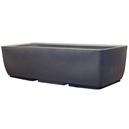 36 in. x 15 in. Graphite Planter