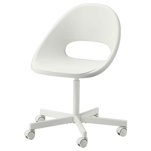 LOBERGET / BLYSKÄR Swivel chair - white