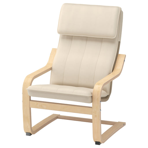 POÄNG Children's armchair - birch veneer, Almås natural
