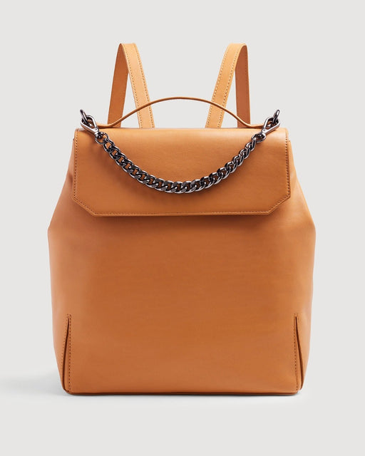 Leather Backpack in Cognac