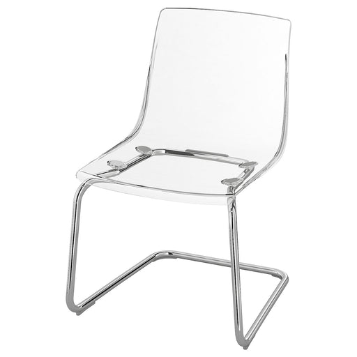 TOBIAS Chair - clear, chrome plated