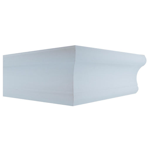18 in. x 6 in. D Tool Free Floating Shelf in White