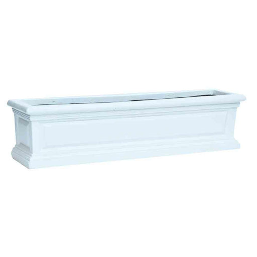 30 in. L White Composite Panel Window Box with Brackets