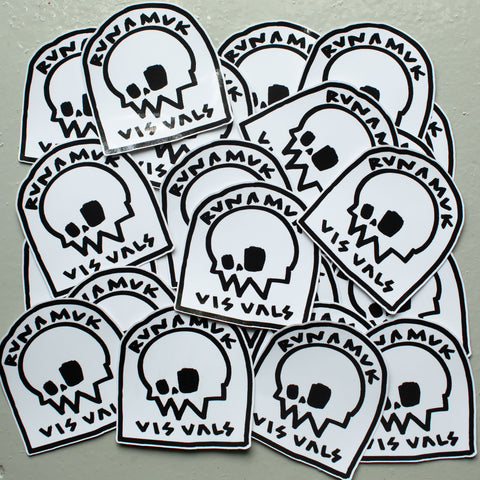 Headstone Stickers / Black & White / Large / Free Postage