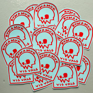 Headstone Stickers / Teal & Red / Large & Small / Free Postage