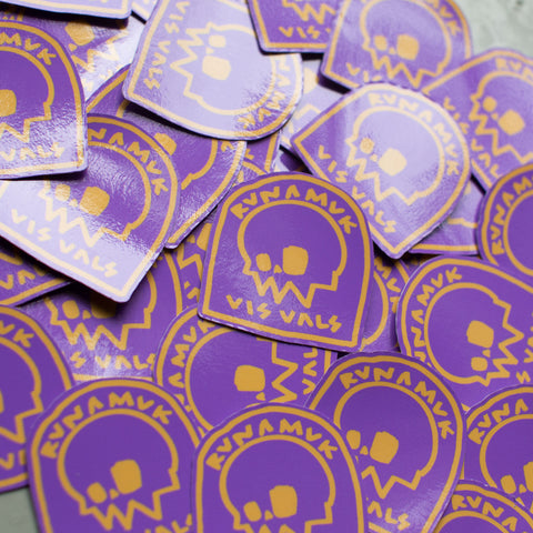Headstone Stickers / Purple & Yellow / Small / Free Postage
