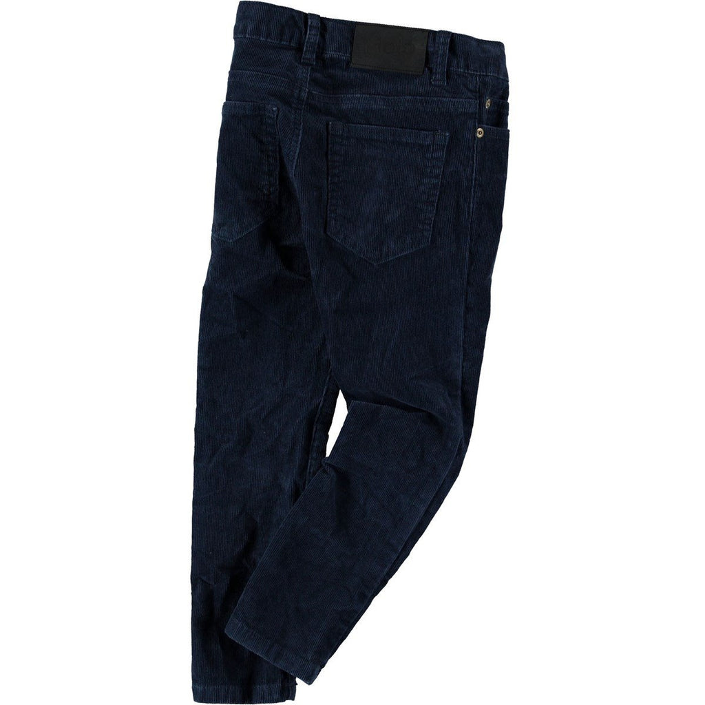 Anton Dark Blue Corduroy Trousers