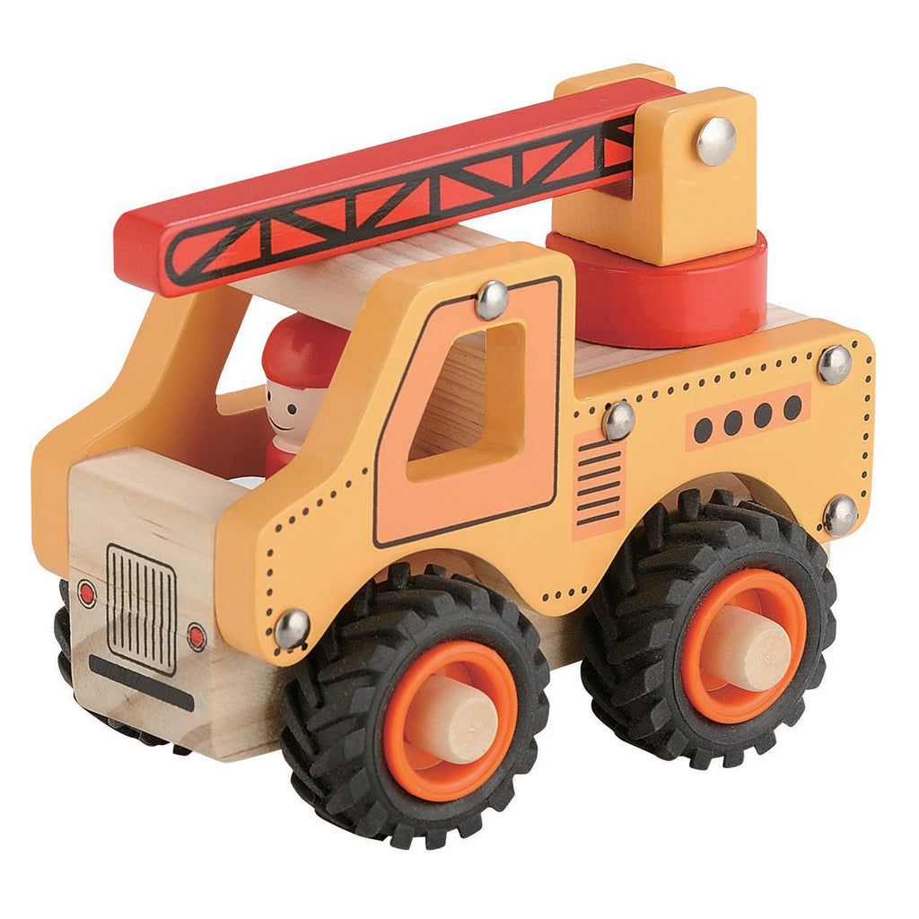 Wooden Brrm-Brrms Work Vehicles - Crane