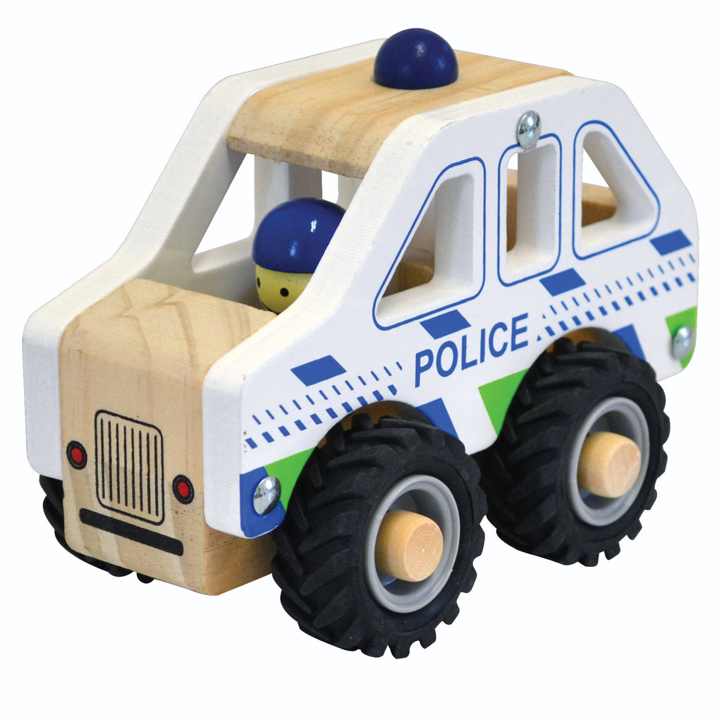 Wooden Brrrm Brrrm Emergency Vehicles - Police Car